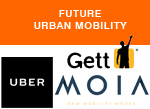 Car hailing services urban mobility uber gett moia
