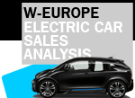 West European electric car sales BEV data and analysis August 2017