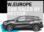 2017 West European car sales by sector SUV dominates