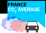 French CO2 average new passenger car sales 2018