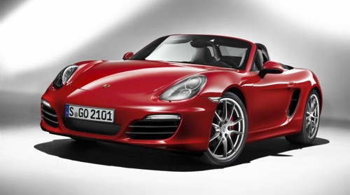 Porsche Boxster 2013MY front 3 quarter Red