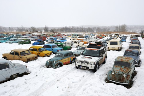Land Rover Russia snow