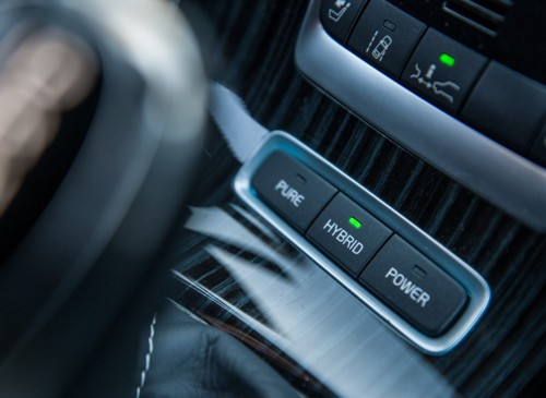 Volvo V60 plug-in hybrid internal driving mode switches