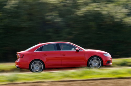 Audi A3 saloon side view 2013