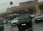 Moscow traffic rain 2013 Russia