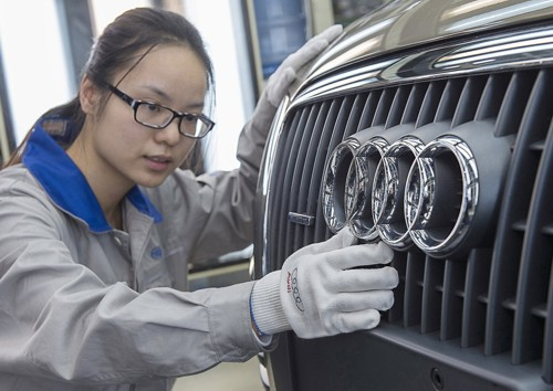 grill Audi CHina production 2013