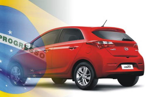 Hyundai HB20 Brazil flag red 2014