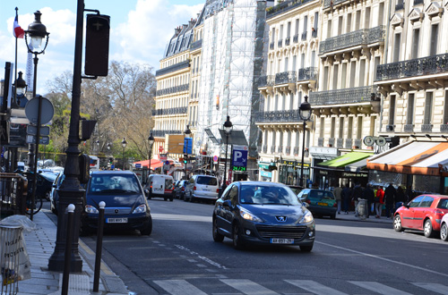 Paris city centre traffic Spring 2014