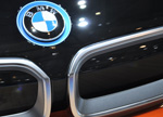 BMW i3 badge orange Geneva