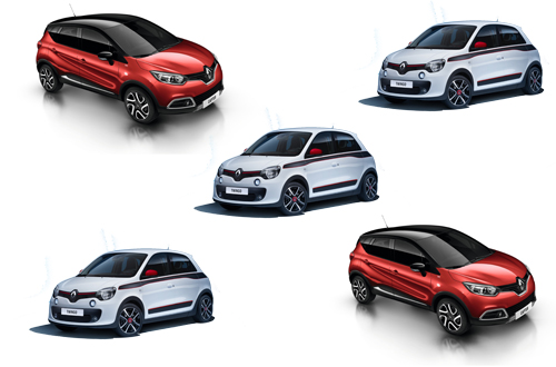 Renault Twingo and Captur collage