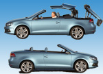 VW Eos Cabriolet roof open