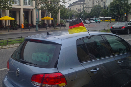 Berlin traffic 2014 World Cup