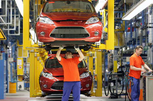 Ford Fiesta production line Cologne Germany