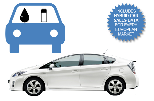 2014 West European Hybrid Car Sales including data