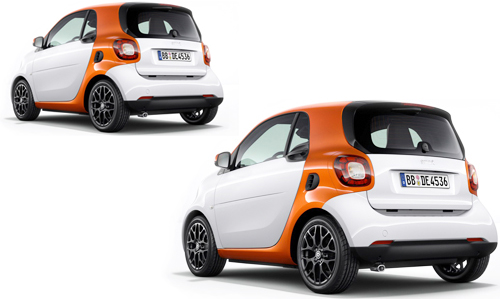 Smart fourtwo 2015 MY x2 orange and white
