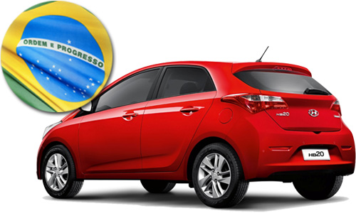 Brazil top selling car July 2015 Hyundai HB20