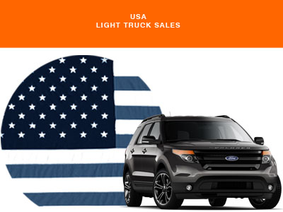 Ford Explorer USA flag US Light Truck Sales AID NEWSLETTER