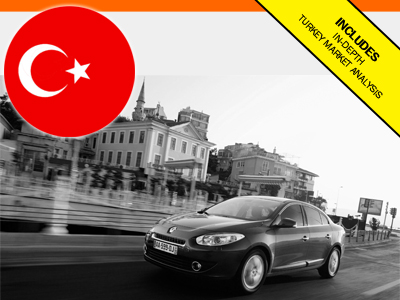 Turkey car sales market 2016 6-Months registrations