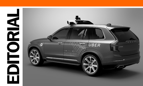 Volvo XC90 Uber self-driving taxi