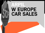 West European car sales April Stop